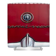 1961 Alfa Romeo Giulietta Sprint Veloce Series II Emblem -1038c Shower Curtain