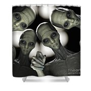 Alien Abduction Shower Curtain
