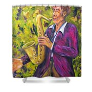 All That Jazz, Saxophone Shower Curtain