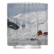 Almirante Brown Research Station Shower Curtain