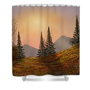 Alpine Sunset Shower Curtain
