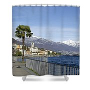 Alpine Village On The Lakefront Shower Curtain