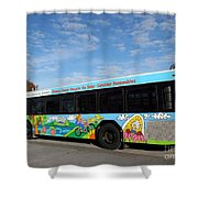 Ameren Missouri And Missouri Botanical Garden Metro Bus Shower Curtain