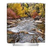 American Fork Canyon Creek In Autumn - Utah Shower Curtain