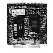 American Pool Hall Facade Version 1 Ghost Town Jerome Arizona 1968 Shower Curtain