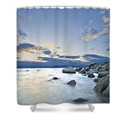 An Evening At Tahoe Shower Curtain