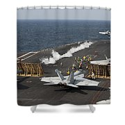 An Fa-18 Hornet Launches Shower Curtain