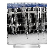 An Icy Challenger Shower Curtain