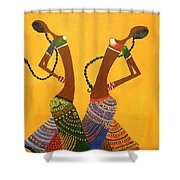 An Indian Dance Form Shower Curtain