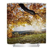 Abstract Irish Sunset Shower Curtain