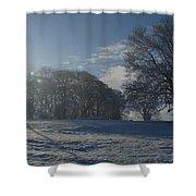 An Irish Winter Scene Shower Curtain