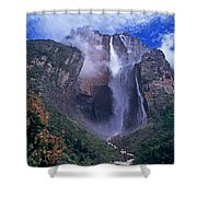 Angel Falls In Canaima National Park Venezuela Shower Curtain