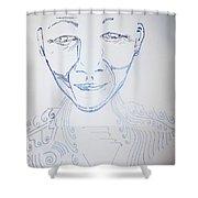 Angel Madiba - Nelson Mandela Shower Curtain