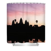 Angkor Wat Sunrise Cambodia Shower Curtain