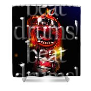 Animal Beats Drums Shower Curtain