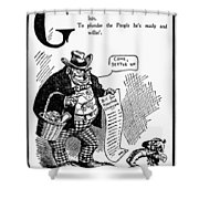 Anti-trust Cartoon, 1902 Shower Curtain
