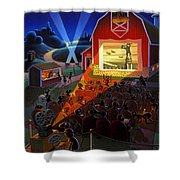 Ants At The Movies Shower Curtain
