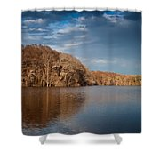 Apalachicola River  Shower Curtain by Debra Forand