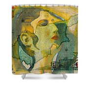 Aphrodite And Ancient Cyprus Map Shower Curtain