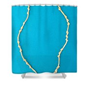 Aphrodite Mechanitis Necklace Shower Curtain by Augusta Stylianou
