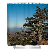 Appalachian Mountains From Mount Mitchell  Shower Curtain