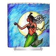 Arania Queen Of The Black Pearl Shower Curtain