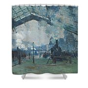 Arrival Of The Normandy Train Shower Curtain