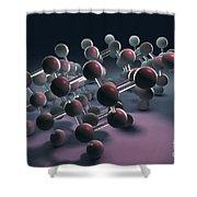Arsenic Molecular Structure Shower Curtain
