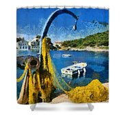 Asos Village In Kefallonia Island Shower Curtain