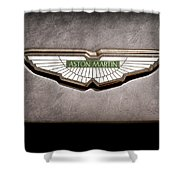 Aston Martin Emblem Shower Curtain