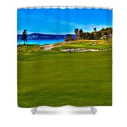 #2 At Chambers Bay Golf Course - Location Of The 2015 U.s. Open Championship Shower Curtain by David Patterson