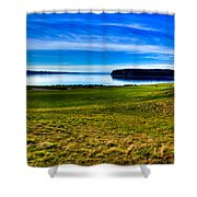 #2 At Chambers Bay Golf Course - Location Of The 2015 U.s. Open Tournament Shower Curtain by David Patterson