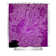 Athens Street Map - Athens Greece Road Map Art On Color Shower Curtain