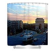 Atlantic Station Sunset Vista  Shower Curtain