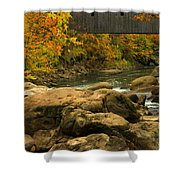 Autumn At Bulls Bridge Shower Curtain