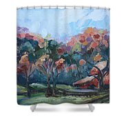 Autumn Barn Shower Curtain