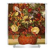 Autumn Blossoms Shower Curtain