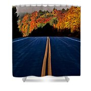 Autumn Colors And Road  Shower Curtain