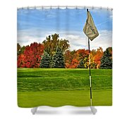 Autumn Golf Shower Curtain