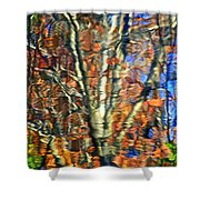 Autumnal Abstracious Shower Curtain