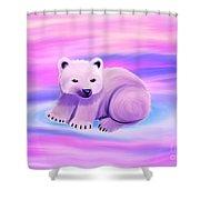 Baby Polar Bear  Shower Curtain
