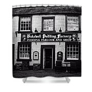 Bakewell  Pudding Factory In The Peak District - England Shower Curtain