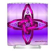 Balance And Harmony - Purple Shower Curtain