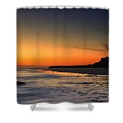 Bamburgh Castle At Sunrise Shower Curtain