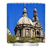 Barcelona Architecture Shower Curtain