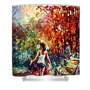 Barefooted Stroll Shower Curtain