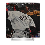 Barry Bonds World Record Breaking Home Run Shower Curtain