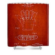 Baseball Glove Patent Drawing From 1922 Shower Curtain