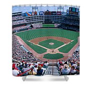Baseball Stadium, Texas Rangers V Shower Curtain