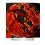 Basketball Abstract Shower Curtain